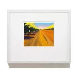 Ranch Road 16 X 20 Black Framed Print Wall Art