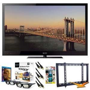 3D LED HDTV, 37  64 Ultra Slim TV Wall Mount, 3 HDMI Cables and