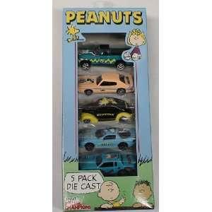 Peanuts Snoopy & Charlie Brown 5 Pack of Die Cast Cars Toys & Games