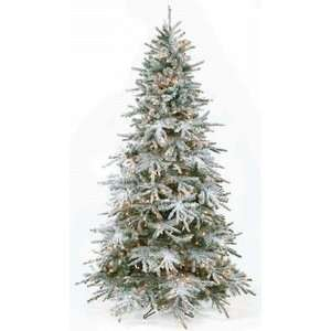 7.5 Untrimmed Flocked Snow Dusted Christmas Tree