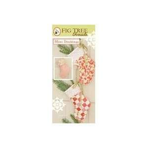 Fig Tree Patterns mini Stockings 3 Pack