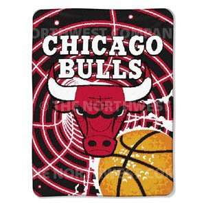 NBA 60 x 80 Super Plush Throw   Chicago Bulls  Sports