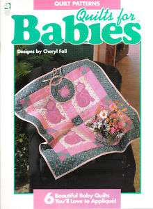 QUILT PATTERN   6 QUILTS FOR BABY   CATS BEARS HEARTS