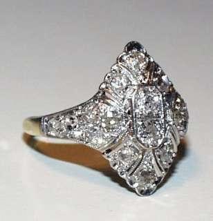 Platinum Gold Edwardian Diamond Antique Delicate Ring