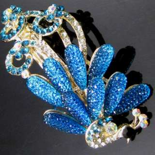 ADDL Item , AUT rhinestone crystal peacock hair barrette