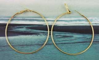 30 PCS Gold plate earring hoop 60mm #20587