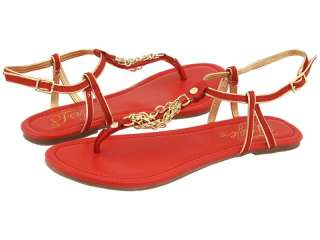 FERGIE RED LEATHER SHOE/SANDAL (SWERVE)