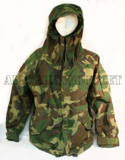 USGI MILITARY GORETEX ECWCS Cold Weather WOODLAND CAMO Parka Jacket