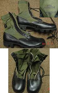 1968 Vietnam War Jungle Boots Sz. 9n