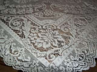 IVORY CREME OFF WHITE SQUARE DOILY TABLECLOTH TABLE CLOTH FLORAL 36 X