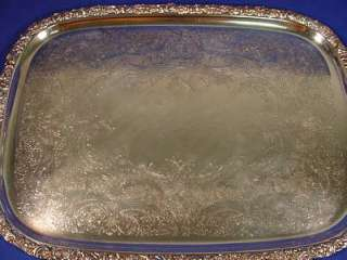 Antique Webster Wilcox HEAVY Silver Plated Serving Tray