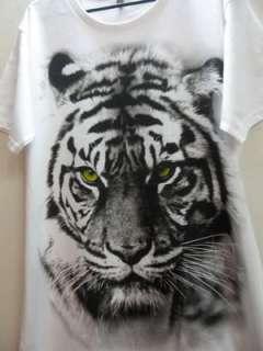 Tiger Animal Fashion 80s New Wave Punk Rock T Shirt L