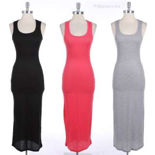Solid Plain Dress Full Long Maxi Dress VARIOUS COLOR and SIZE