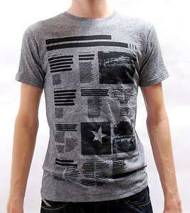 SHIRT TEE NEWS SHORT SLEEVE WITH PRINT SEXY GREY MEN $43 BNWT
