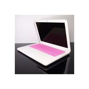 TopCase Transparent HOT PINK Keyboard Silicone Skin Cover for Macbook