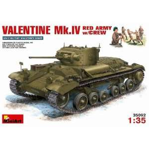 MiniArt 1/35 Valentine Mk.IV Red Army w/Crew Kit: Toys