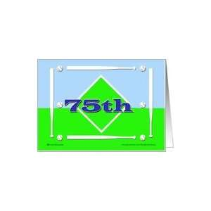 75th Baseball Birthday Card Toys & Games