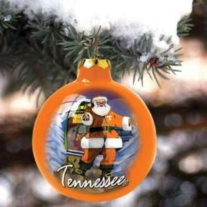 Tennessee Volunteers Hand Painted Glass Ornament Sports