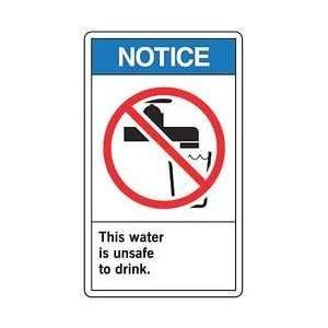 Ansi Notice Sign,plastic,7x10 In   ACCUFORM SIGNS