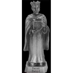 King David 2 1 2in. Pewter Statue