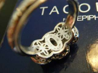 TACORI IV Diamonique EPIPHANY Bloom With Love 3 Stone STERLING Ring