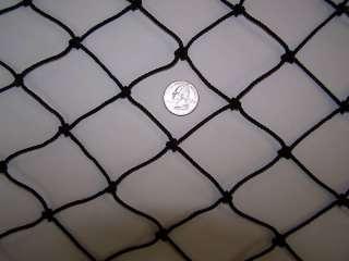 Batting Cage Nylon Black Netting 1 7/8 #36 Round Bale Hay Netting