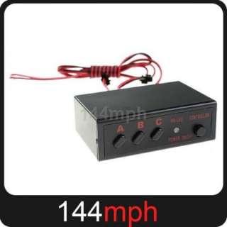 6x 22 LED Car White Flash Strobe Light + Controller Box