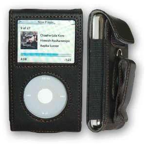 CrazyOnDigital Premium Black Leather Case Apple iPod Video