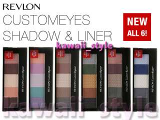 Revlon CUSTOM EYES Shadow & Liner CustomEyes ALL 6 NEW