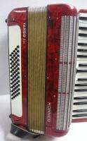 RED Hohner Accordion TANGO IM Germany Made W/ Hard Case NO RES