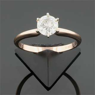 CT 14KW & ROSE GOLD MOISSANITE SOLITAIRE RING