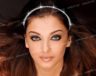 Bridal 3 Row Crystal Rhinestones Tiara Hair Headband HOT