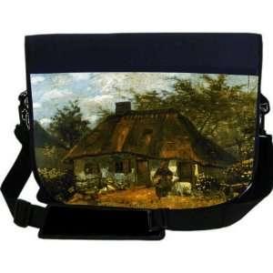 Gogh Art Cottage NEOPRENE Laptop Sleeve Bag Messenger Bag   Laptop Bag