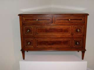 THEODORE ALEXANDER Heavily Inlaid Mahogany Chest   BRAND NEW