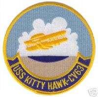 USN NAVY CV 63 USS KITTY HAWK MILITARY CREW PATCH