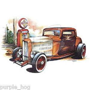 Shirt Hot Rod Rusty Rat Rod Coupe Vinage Gas Pump 159