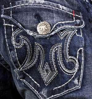 MEK Denim Jeans Mens OAXACA Dark Blue Boot cut Saddle