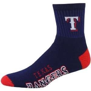 MLB Texas Rangers Navy Blue Team Color Block Socks Sports
