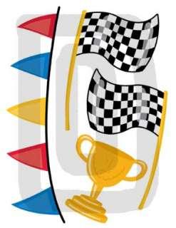 RACING RACE CAR TRANSPORTATION WALL ART STICKERS DECALS