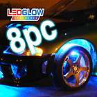 BLUE LED NEON UNDER GLOW CAR LIGHTS & WHEEL WELL KIT