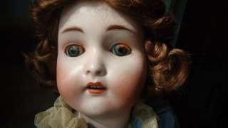 Doll 24 Victorian Dress Bisque Head wood body blue glass eyes