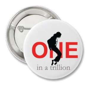 2.25 Button Pinback Pin   Michael Jackson   One in a