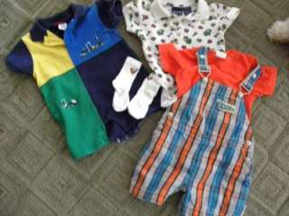baby Boy 6 12 mos Lot 3 Sports Tools Outfit Gymboree ..