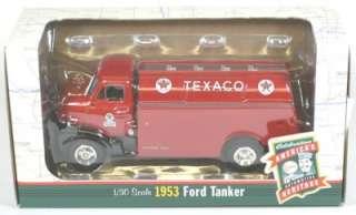 1953 Ford Tanker Truck   Texaco Aviation Fuel   Ertl # 19484   1999