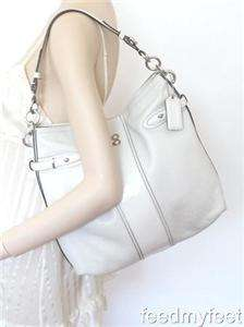 Coach 16457 Colette White Leather Shoulder Bag Tote Hobo Handbag Purse
