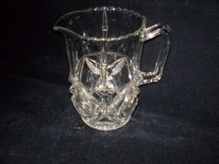 EAPG,1 1/2 Qt.,Clear,Crystal,Diamond,Water Pitcher