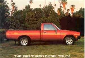 1983 Mitsubishi Turbo Diesel Pickup Truck Postcard