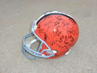 2011 CLEVELAND BROWNS Team Signed Autographed F/S Helmet COA PROOF