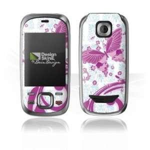 Design Skins for Nokia 7230 Slide   Pink Butterfly Design