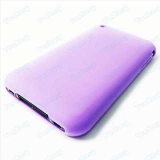 Violet Soft Bean Silicon cover Case for iPhone 3G / 3GS
